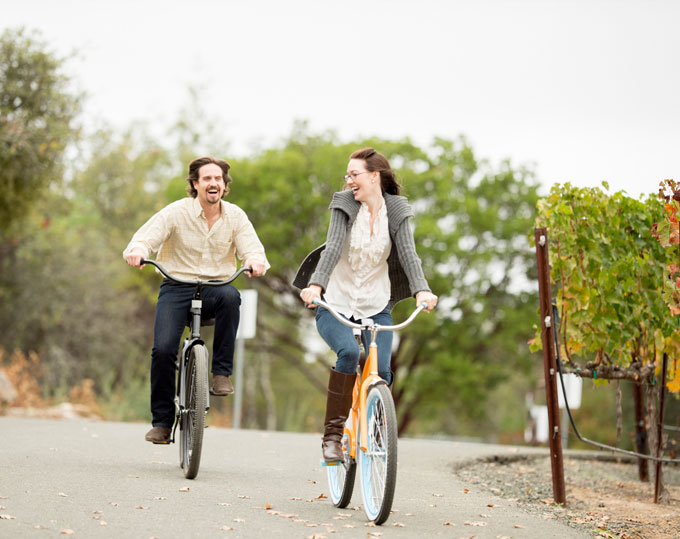 Biking at California